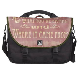 Healthy farm Eating organic Commuter Bags