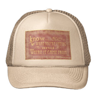 Healthy farm Eating organic Trucker Hats