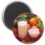 Healthy food 2 inch round magnet