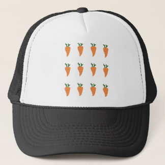 Healthy Food- Carrot Cartoon Print Trucker Hat