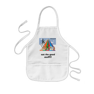 healthy food chart and apron