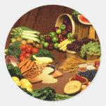 Healthy food classic round sticker
