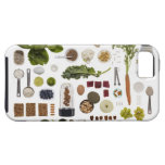 Healthy food grid on a white background. iPhone 5 cases