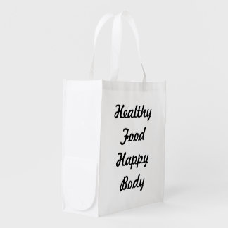 Healthy Food Happy Body Grocery Bags