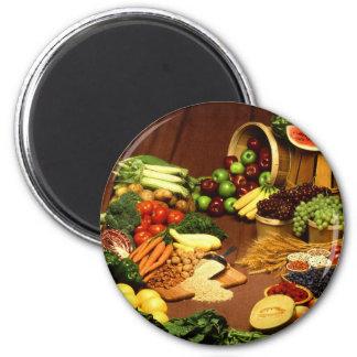 Healthy food refrigerator magnets