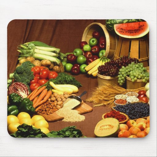Healthy food mouse pad