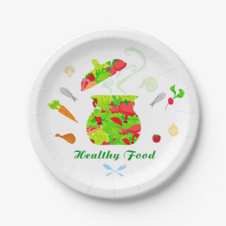 healthy food Paper Plate