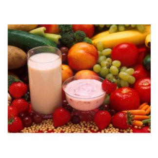 Healthy food postcard