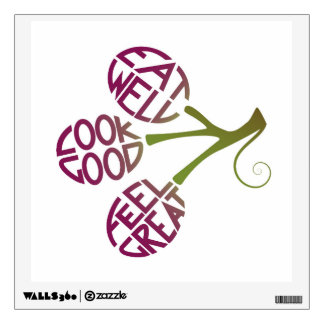Healthy food quote design for fitness motivation wall sticker