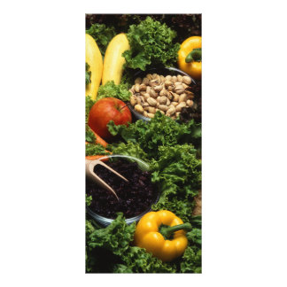 Healthy food personalized rack card