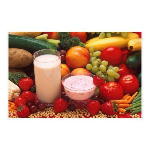 Healthy food stationery