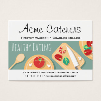Healthy Foods Catering Business Card