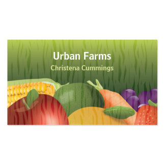 Healthy Foods Farming Business Card