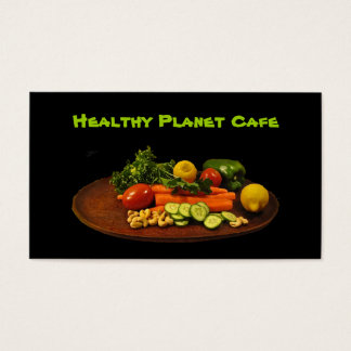 Healthy Foods Restaurant Business Card