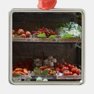 healthy fresh produce metal ornament