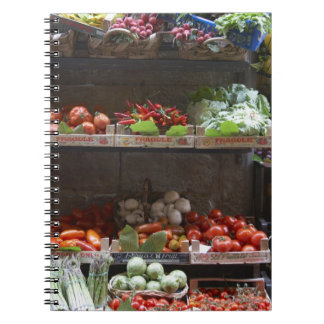 healthy fresh produce spiral notebook