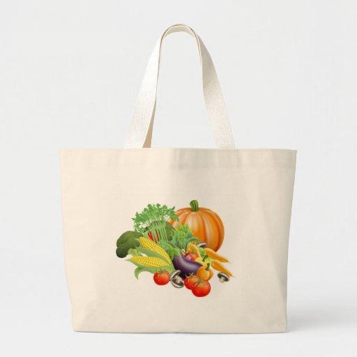 Healthy fresh produce vegetables jumbo tote bag
