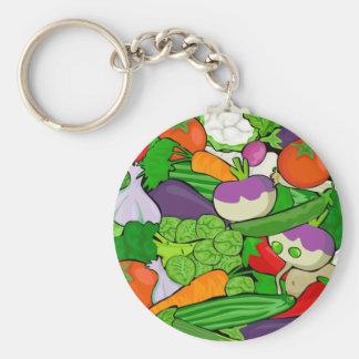 Healthy Fresh Vegetables Medley Keychain