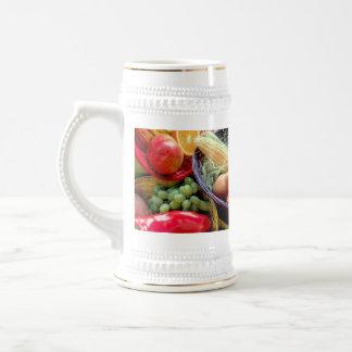 Healthy Fruit and Vegetables Beer Stein