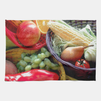 Healthy Fruit and Vegetables Hand Towel