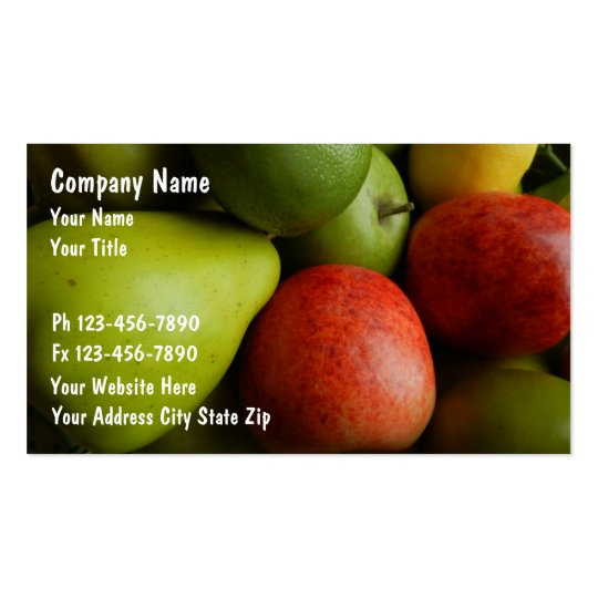 Healthy Fruit Business Cards