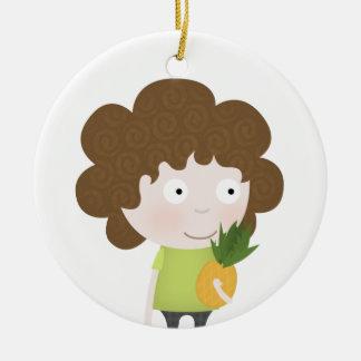 Healthy fruit ceramic ornament