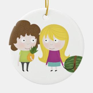 Healthy fruit christmas tree ornaments