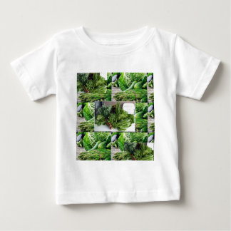 Healthy green leafy vegetable salads chefs cuisine baby T-Shirt