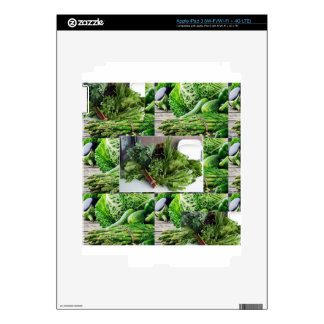 Healthy green leafy vegetable salads chefs cuisine decal for iPad 3
