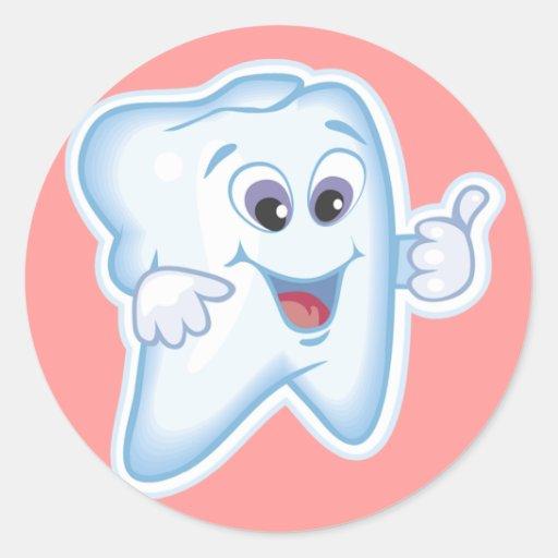 Healthy Happy Teeth Classic Round Sticker