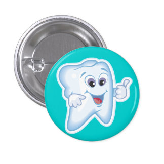 Healthy Happy Tooth Button