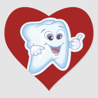 Healthy Happy Tooth Heart Sticker