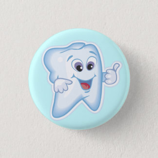Healthy Happy Tooth Pinback Button