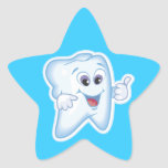Healthy Happy Tooth Star Sticker