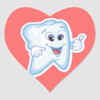 Healthy Happy Tooth Heart Stickers