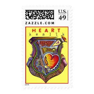 Healthy HEART - Customized Postage Stamps