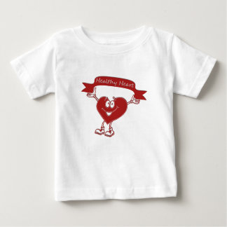 Healthy Heart man  awareness symbol cardiology Baby T-Shirt