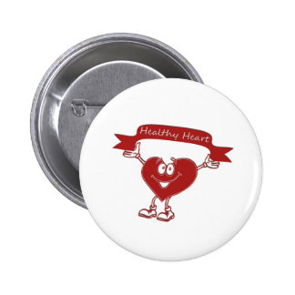 Healthy Heart man  awareness symbol cardiology Button