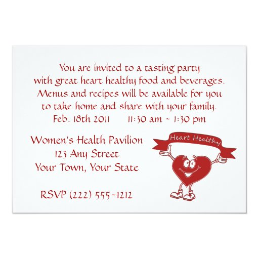 Healthy Heart man  cardiology  awareness symbol 5x7 Paper Invitation Card