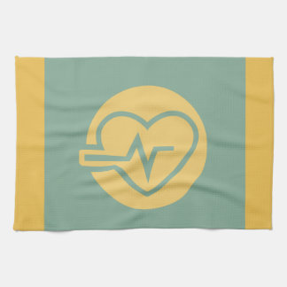 Healthy Heart Workout Graphic Hand Towel