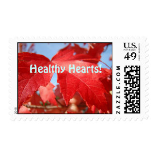 Healthy Hearts! stamps Red Leaf Red Tree Leaves