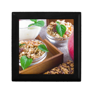 Healthy ingredients for breakfast gift box