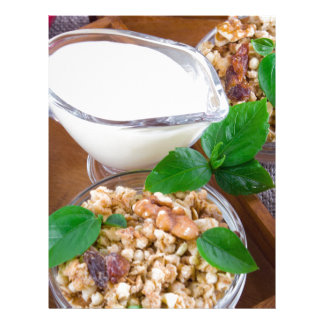 Healthy ingredients for breakfast letterhead