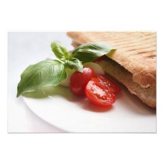 Healthy Italian food photo print