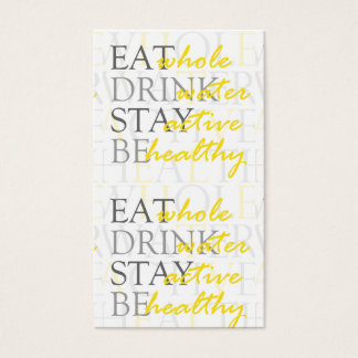 Healthy Life Coach Stay Active Business Card