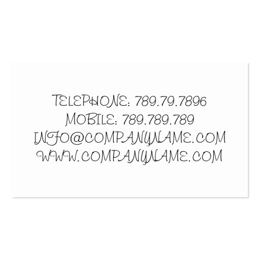 Healthy Lifestyle Business Card Template (back side)