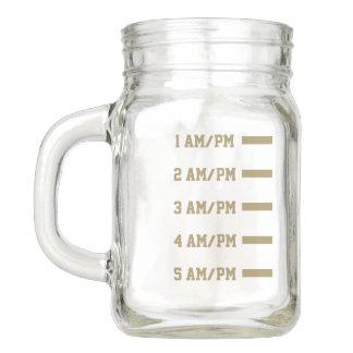 Healthy Lifestyle. Drink Water Level Reminder. Mason Jar