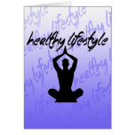Healthy Lifestyle Greeting Card