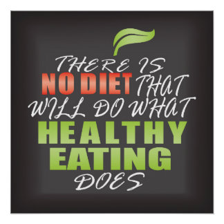 Healthy lifestyle quote poster
