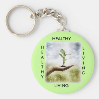 , HEALTHY, LIVING, HEALTHY... - Customized Keychain